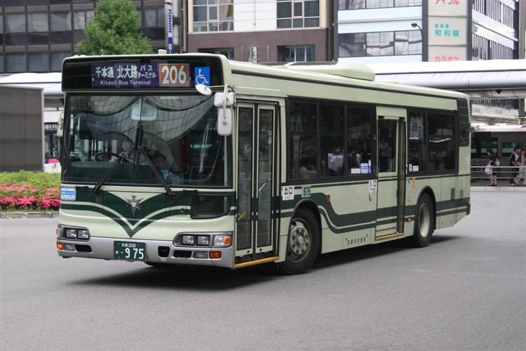 京都市交通局 京都市バス 京都200か・975 日野KL-HU2PMEE