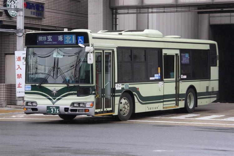 京都市交通局 京都市バス 京都200か・976 日野KL-HU2PMEE