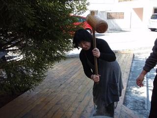 2010直美・餅つき直ちゃん