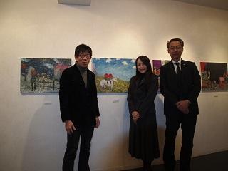 20130212原画展伊藤さん&桃尾さん