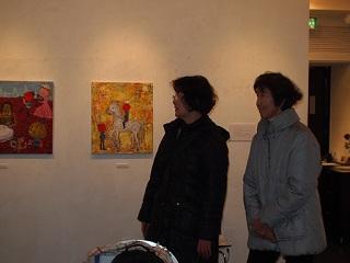 20130214原画展国画会茅野さん