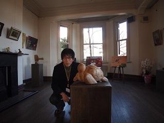 20130313ライン展示室海亀と私