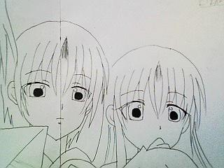 燕・椿(線画)
