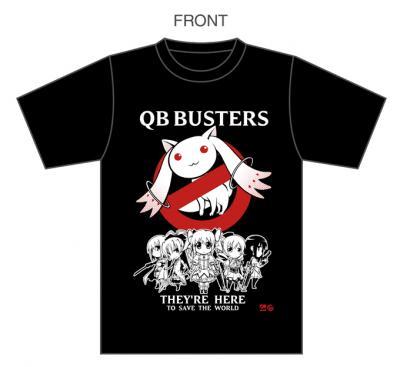 まどかQBバスターズTシャツ完成イメージ(黒)