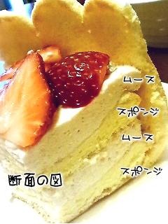ビスキュイ苺ムースケーキ2