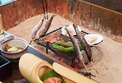 囲炉裏炭焼会席料理 (らくらくプラン)【竹コース】