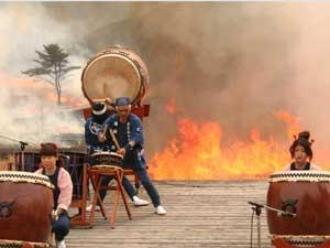 炎の祭典!!砥峰高原山焼き