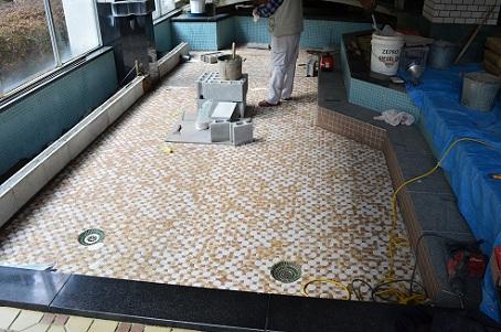 大浴場(大きい方)改装