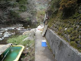 川横生簀を作る場所