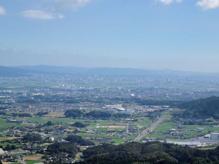 基山山頂から鳥栖方面P7231235