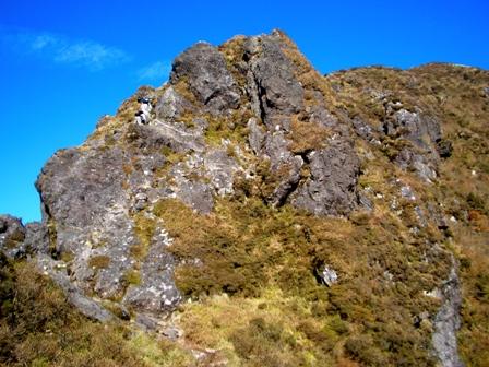 西峰への難所その1CIMG0132