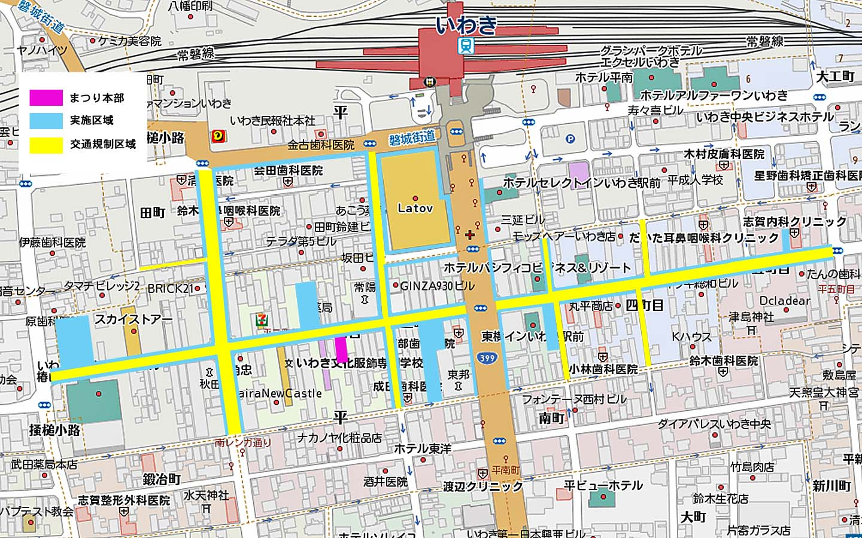 七夕交通規制図