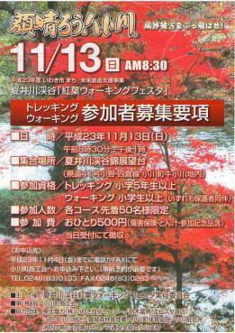 夏井川渓谷紅葉ウォーキングフェスタ