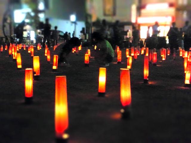 鎮魂の竹灯り2