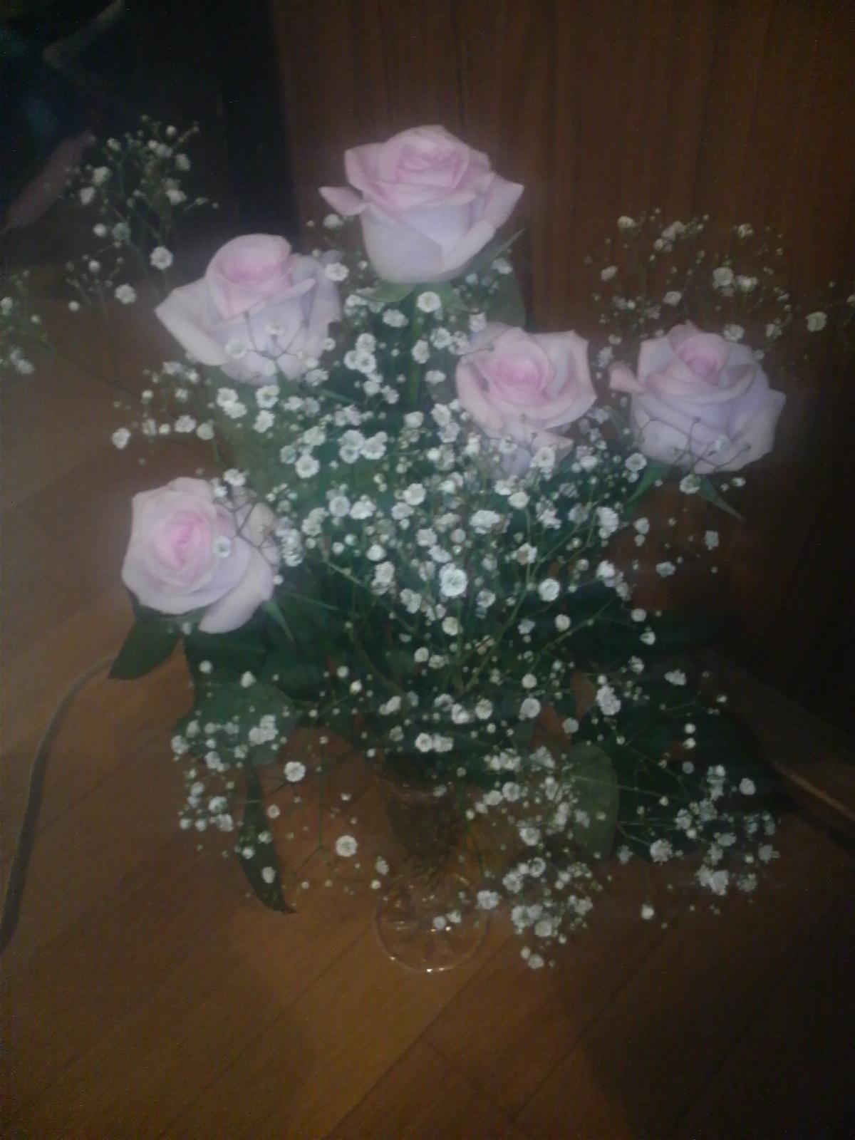 パパからのピンクのバラ