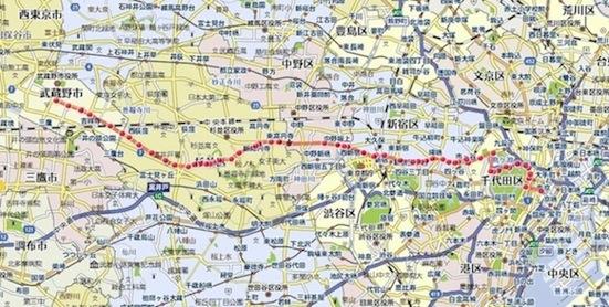 東京駅からの徒歩ルート