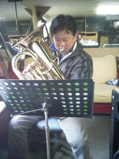 練習中の加藤先生