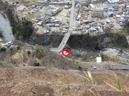 郡内ツアー 桂川の断崖