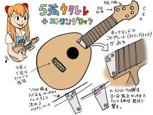 5弦ウクレレ構想