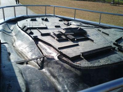 主郭の復元模型