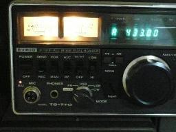 TS-770のメーターランプ
