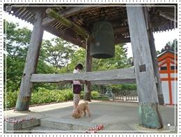 20110918勝尾寺と鐘とジョナ2