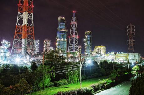 堺泉北工業地帯のプラント