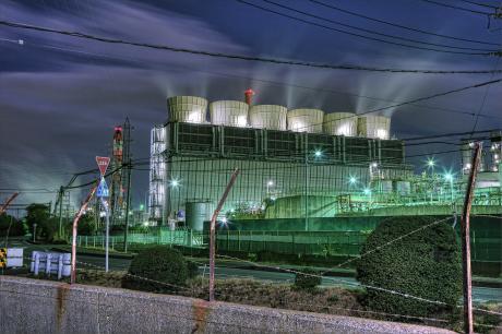 四日市コンビナート塩浜地区の夜景
