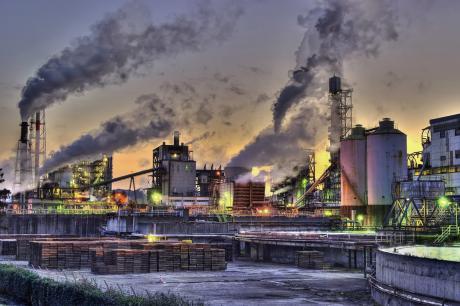 日本製紙岩沼工場の夕景