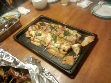 フランスパンのピザ