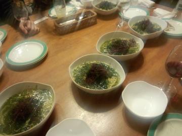 海藻&海苔スープのパスタ