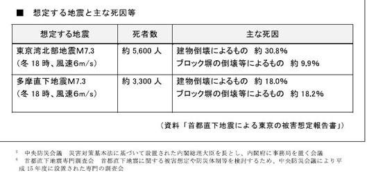 東京都の被害想定