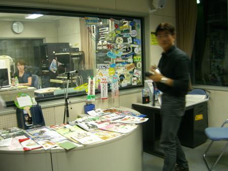 藤田市男氏とFM新津・船尾佳代アナ