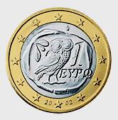 1ユーロコインの表