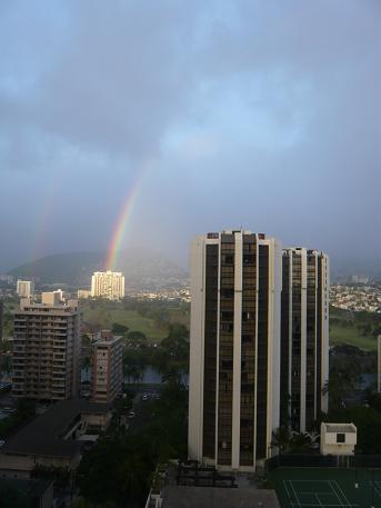 虹がでたよ
