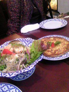 タイ風オムレツ サラダ