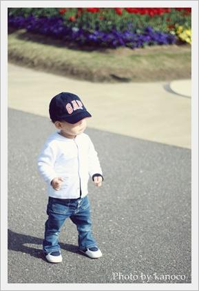 帽子かぶって