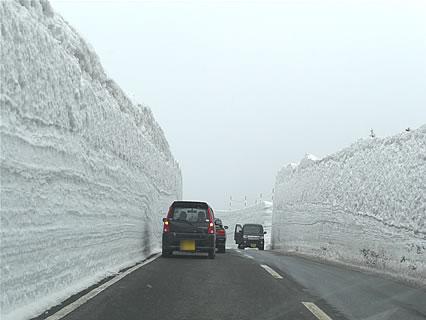 春の八甲田 雪の回廊-2