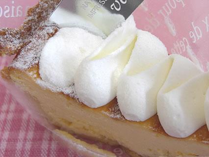 Patisserie verger(パティスリー ヴェルジェ) 濃厚チーズタルト アップ