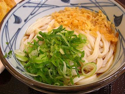 イオンモール名取エアリ 釜揚げ讃岐うどん 丸亀製麺 ぶっかけうどん(並)(冷)(280円)