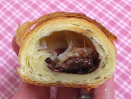 サンマルクカフェ サンロード青森店 バナナチョコクロ 断面