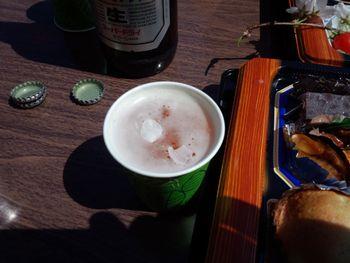 ビールに桜