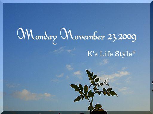 11月23日晴れ