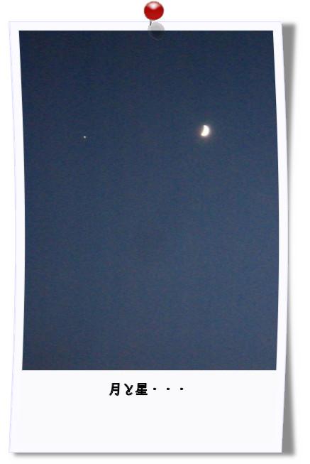 月と星・・・