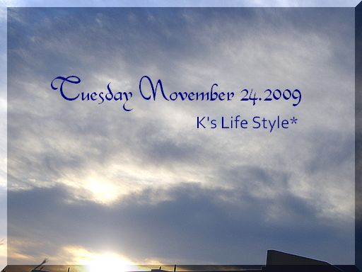 11月24日曇りのち雨