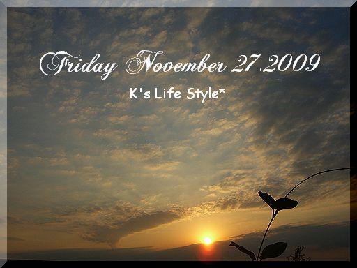 11月27日晴れ