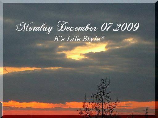 12月7日晴れ時々くもり