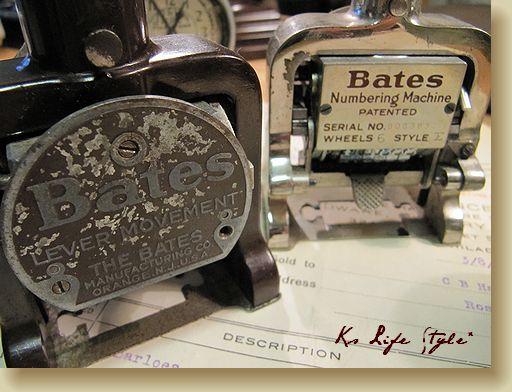 Bates ナンバリングスタンプ
