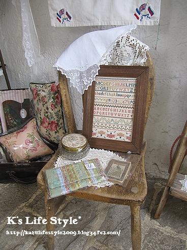サンプラーと椅子