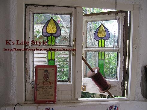 窓のディスプレイ